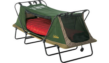 a Cabela's deluxe tent cot