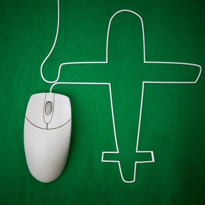 Computer mouse shaped like an airplane